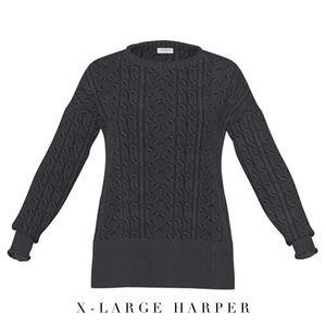 LuLaRoe XL Dark Gray Harper Sweater